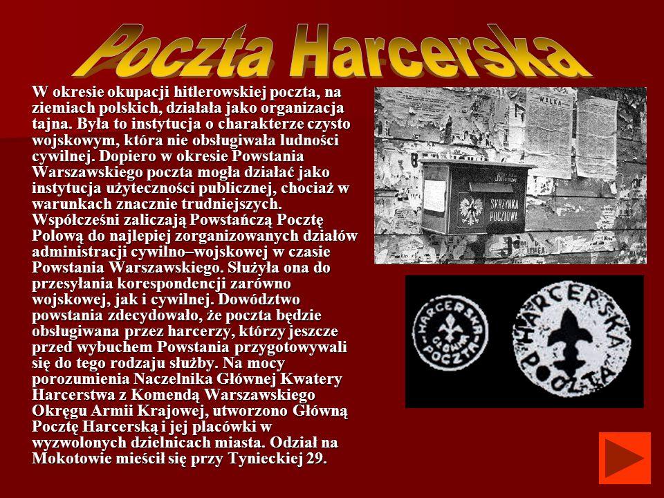 W okresie okupacji hitlerowskiej poczta, na ziemiach polskich, działała jako organizacja tajna. Była to instytucja o charakterze czysto wojskowym, któ
