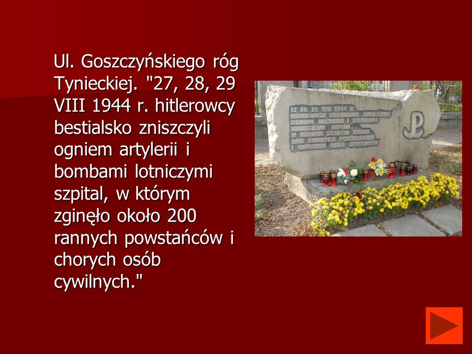 Ul. Goszczyńskiego róg Tynieckiej.