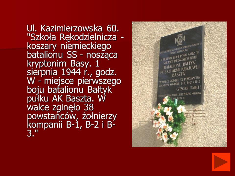 Ul. Kazimierzowska 60.
