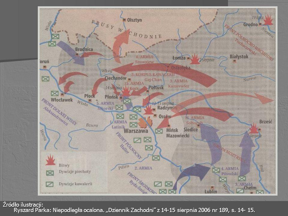 Źródło ilustracji: Ryszard Parka: Niepodległa ocalona. Dziennik Zachodni z 14-15 sierpnia 2006 nr 189, s. 14- 15.