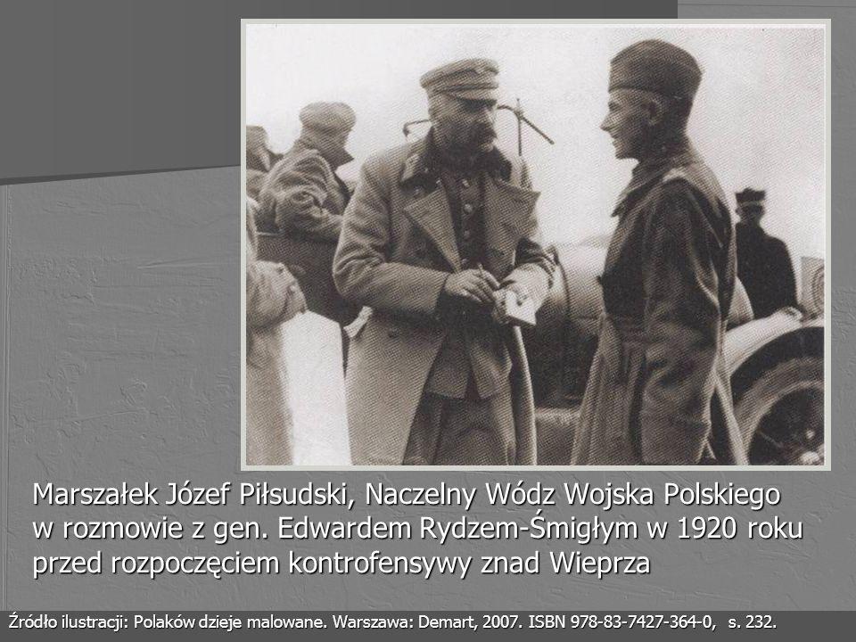 Marszałek Józef Piłsudski, Naczelny Wódz Wojska Polskiego w rozmowie z gen. Edwardem Rydzem-Śmigłym w 1920 roku przed rozpoczęciem kontrofensywy znad
