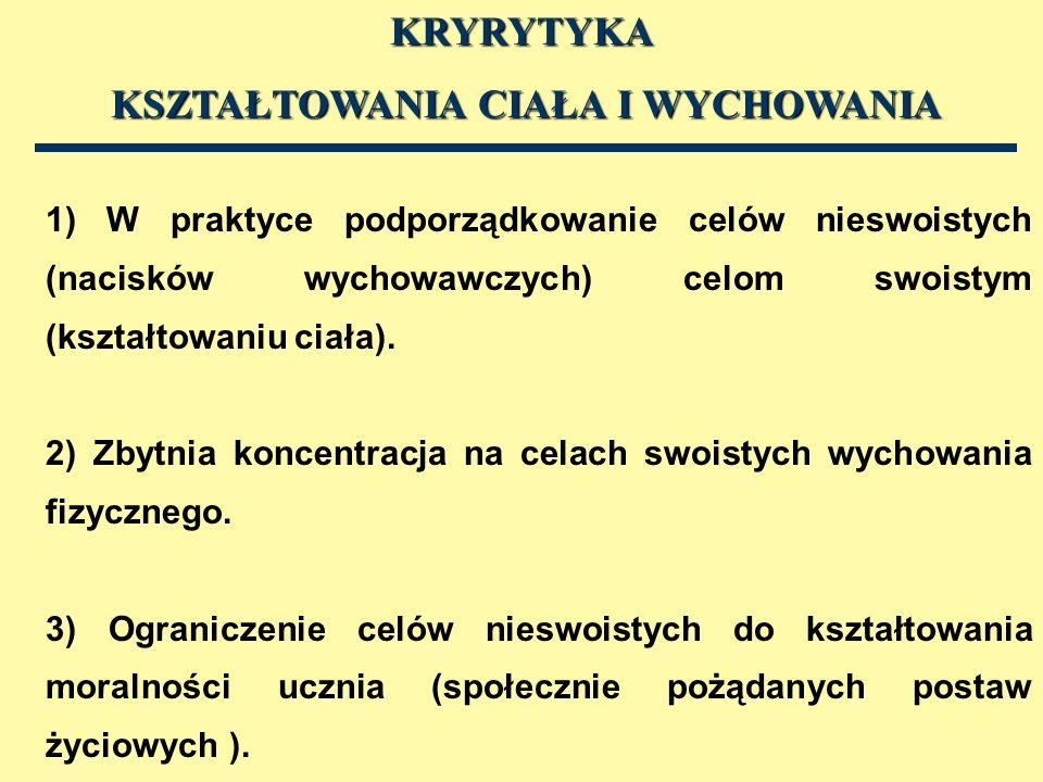 1) Henryk Grabowski, 1997, Teoria fizycznej edukacji.