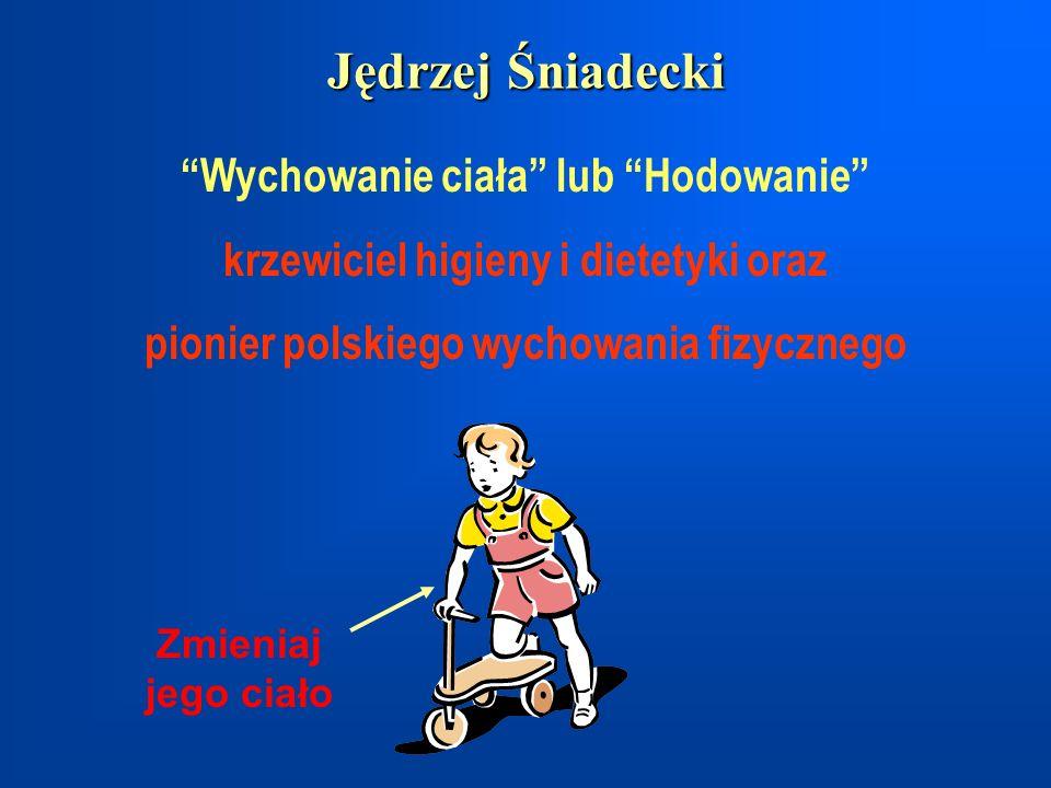 Jędrzej Śniadecki Wychowanie ciała lub Hodowanie krzewiciel higieny i dietetyki oraz pionier polskiego wychowania fizycznego Zmieniaj jego ciało