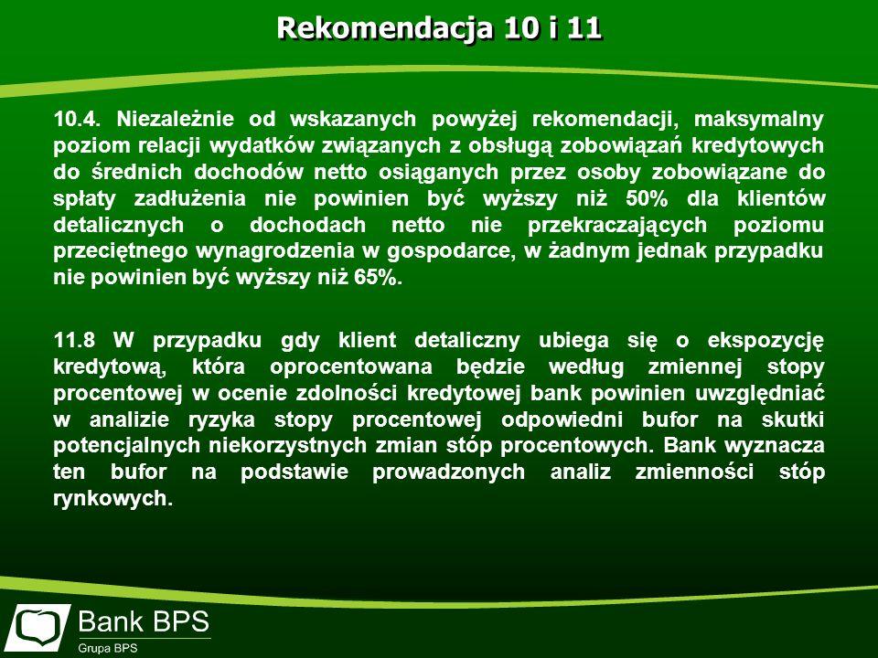 Rekomendacja 10 i 11 10.4.