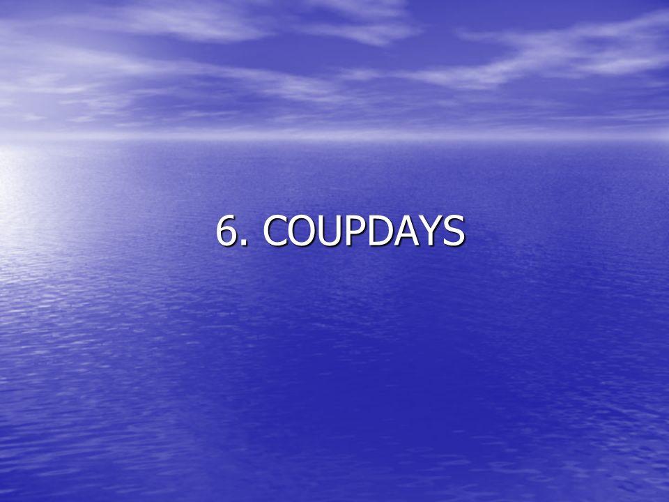 6. COUPDAYS