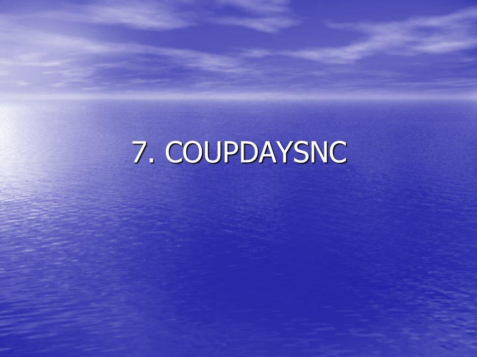 7. COUPDAYSNC