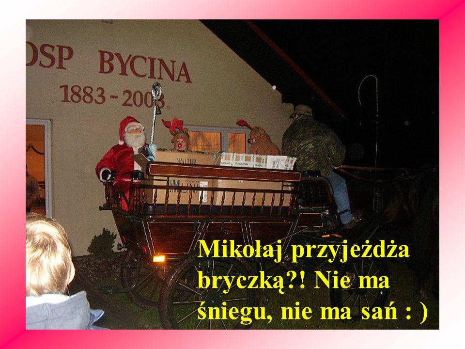 Mikołaj przyjeżdża bryczką?! Nie ma śniegu, nie ma sań : )