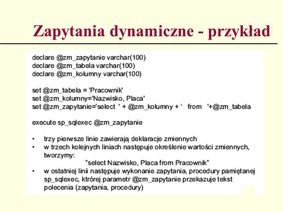 Zapytania dynamiczne - przykład