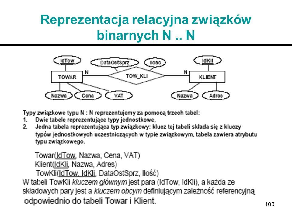 103 Reprezentacja relacyjna związków binarnych N.. N
