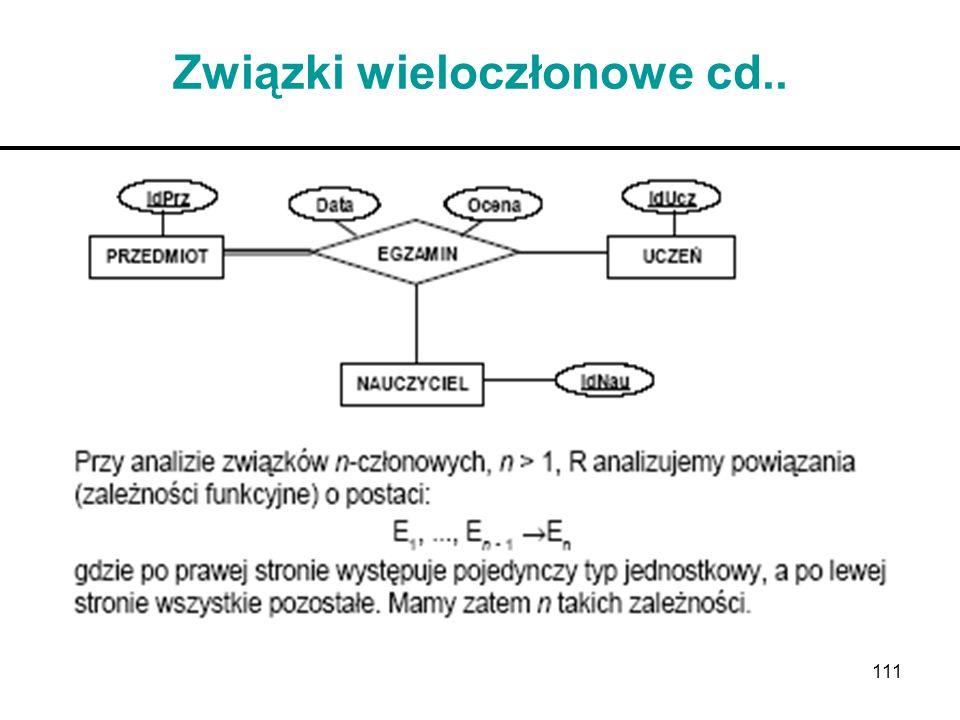 111 Związki wieloczłonowe cd..