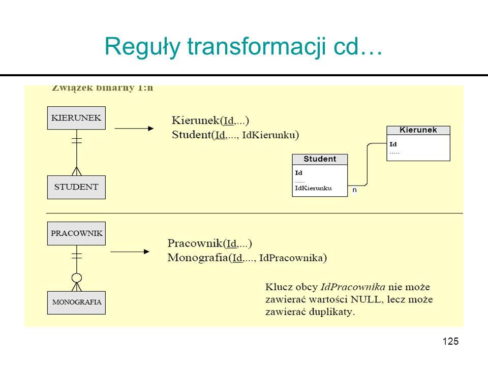 125 Reguły transformacji cd…