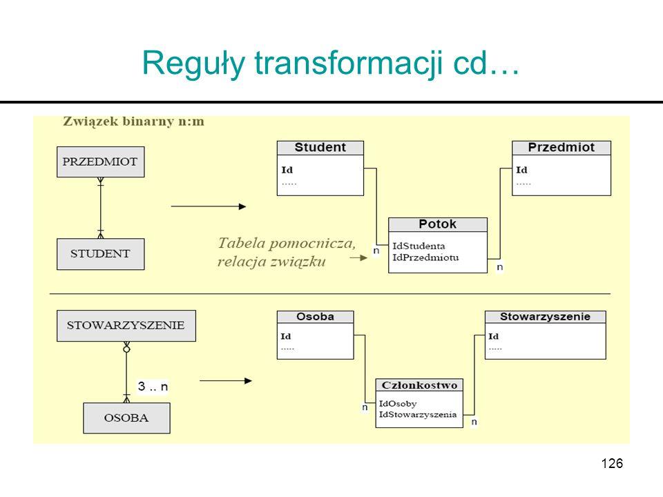 126 Reguły transformacji cd…