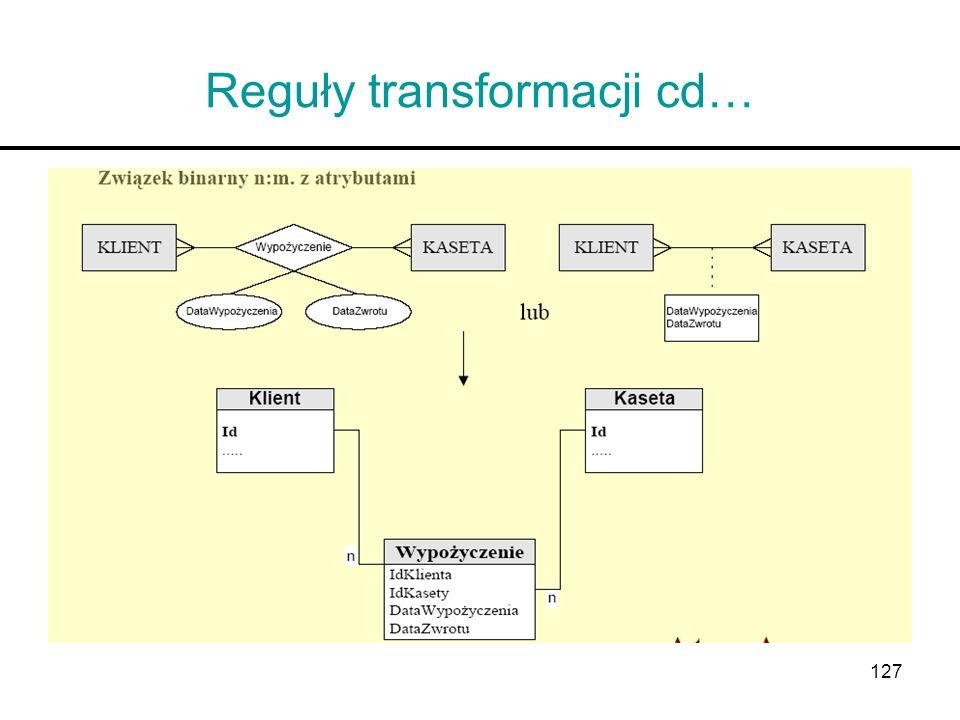 127 Reguły transformacji cd…