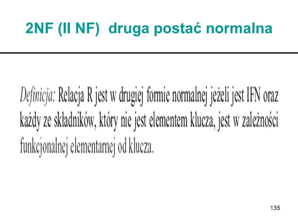 135 2NF (II NF) druga postać normalna