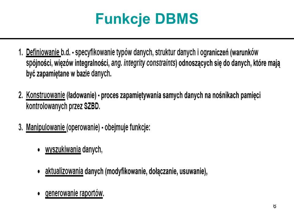 6 Funkcje DBMS
