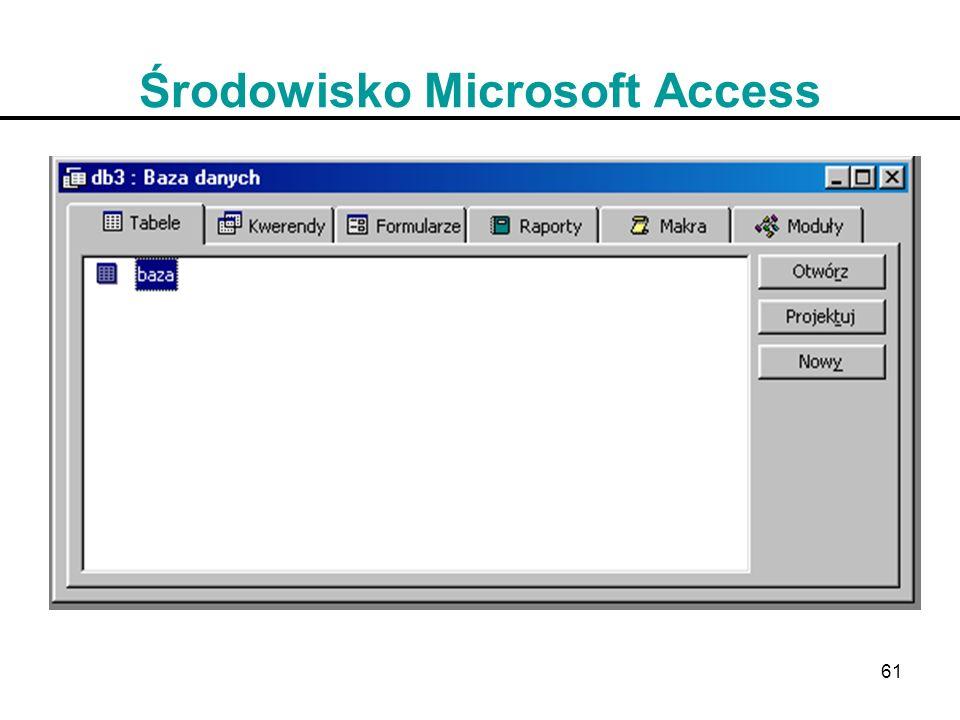 61 Środowisko Microsoft Access