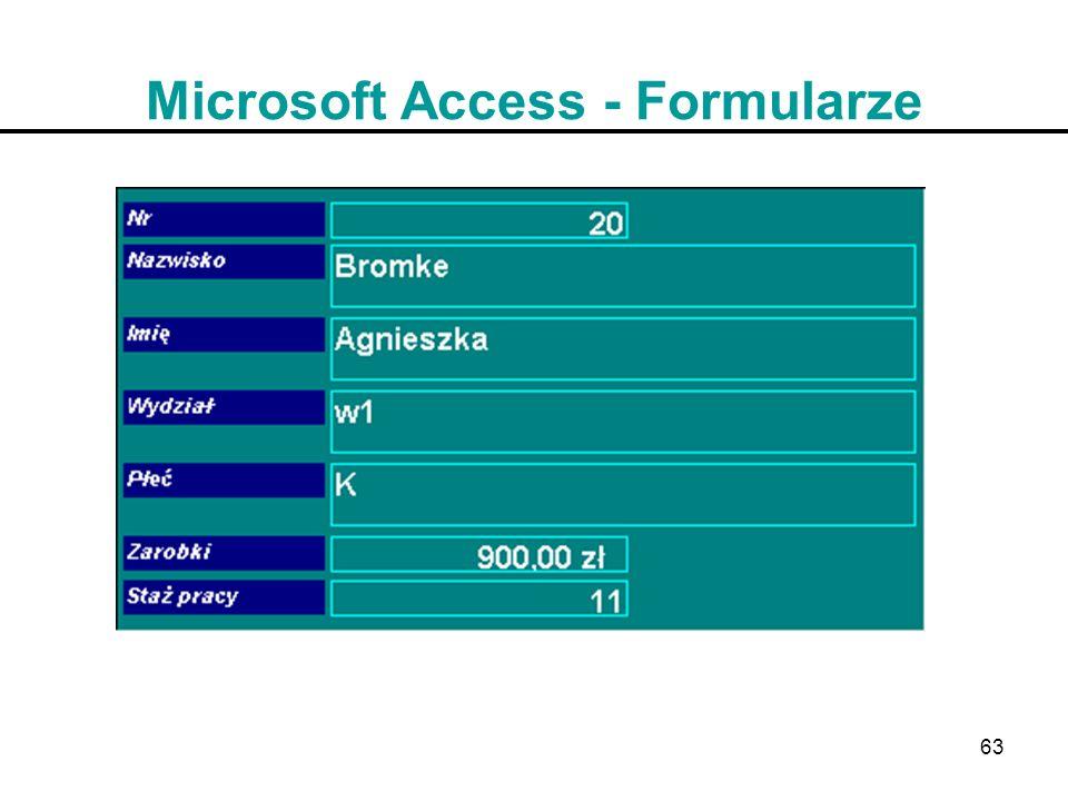 63 Microsoft Access - Formularze