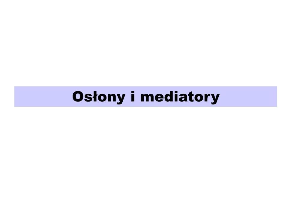 Osłony i mediatory