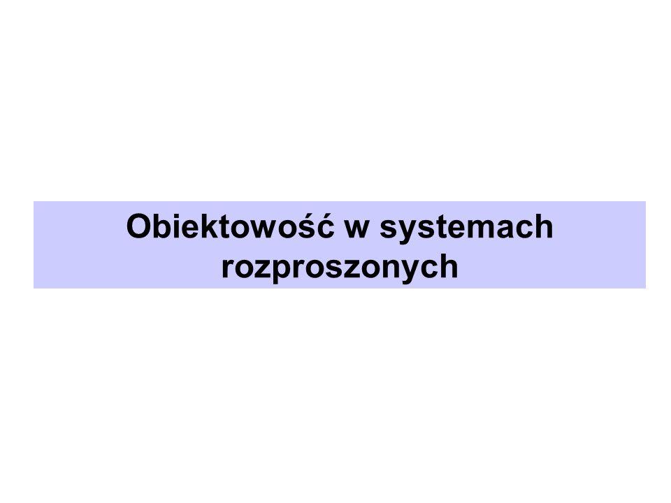 Obiektowość w systemach rozproszonych