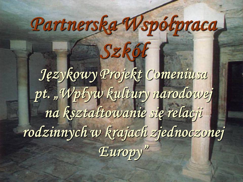 Partnerska Współpraca Szkół Językowy Projekt Comeniusa pt.