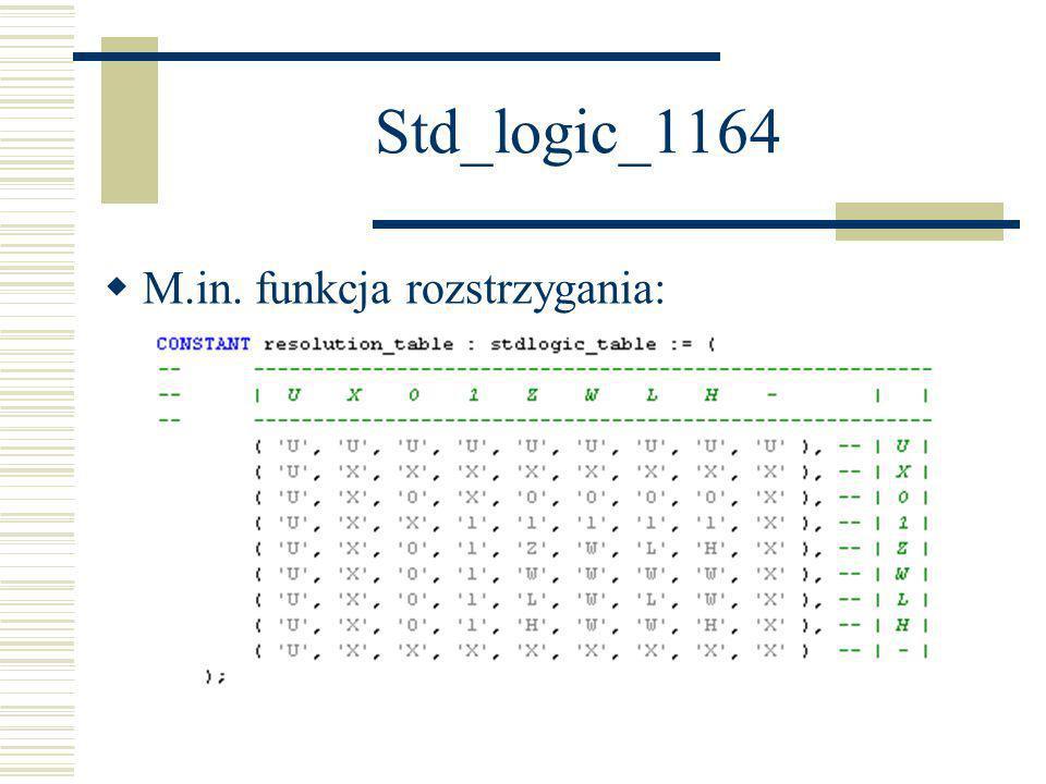 Std_logic_1164 M.in. funkcja rozstrzygania: