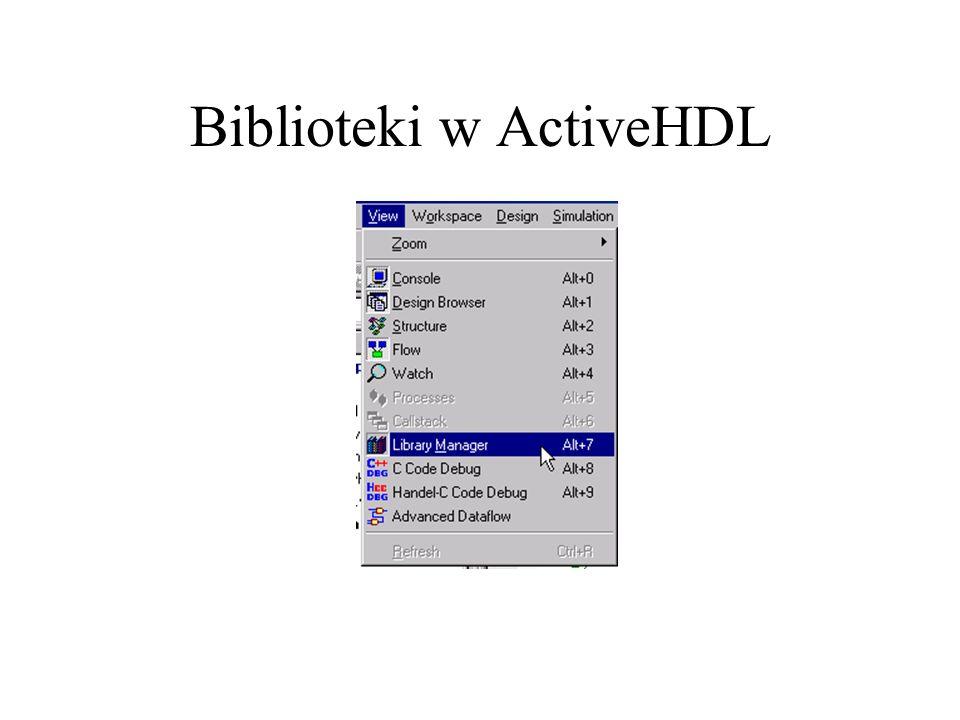 Biblioteki w ActiveHDL