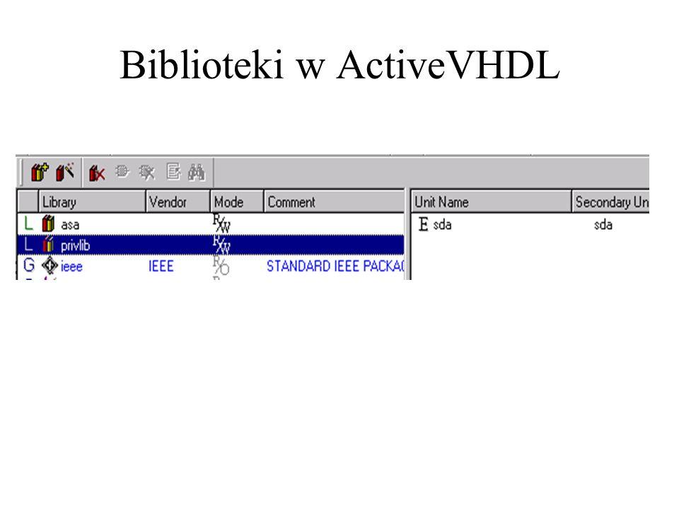Biblioteki w ActiveVHDL