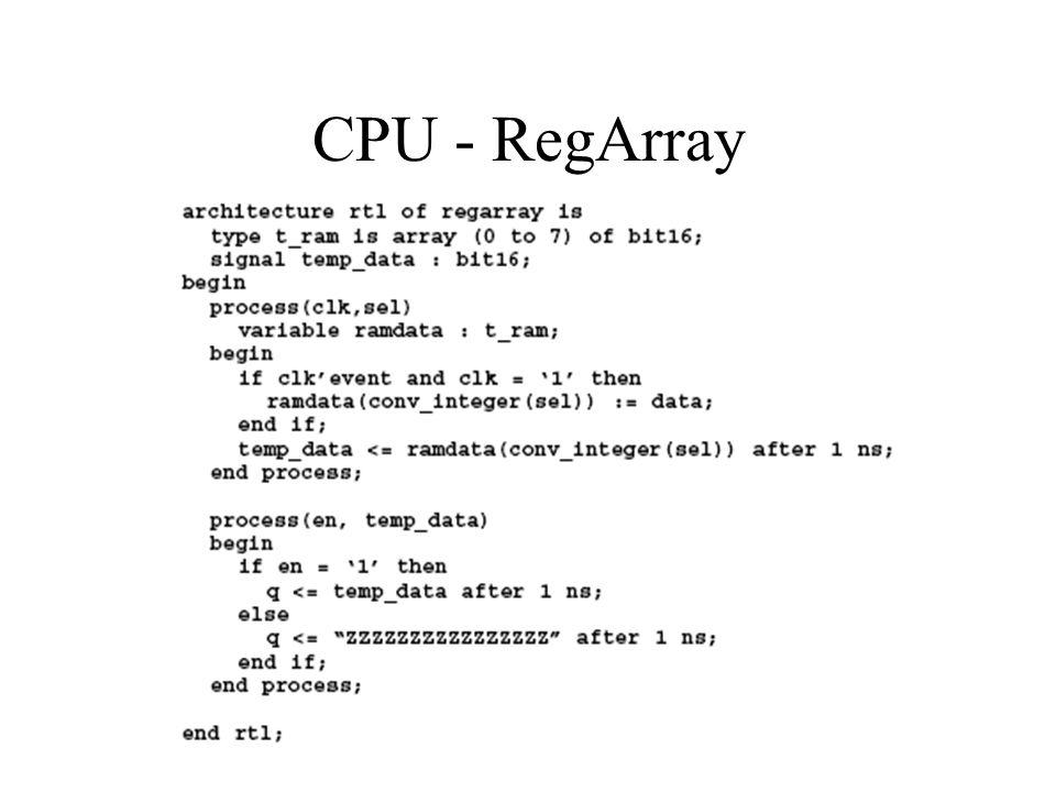 CPU - RegArray
