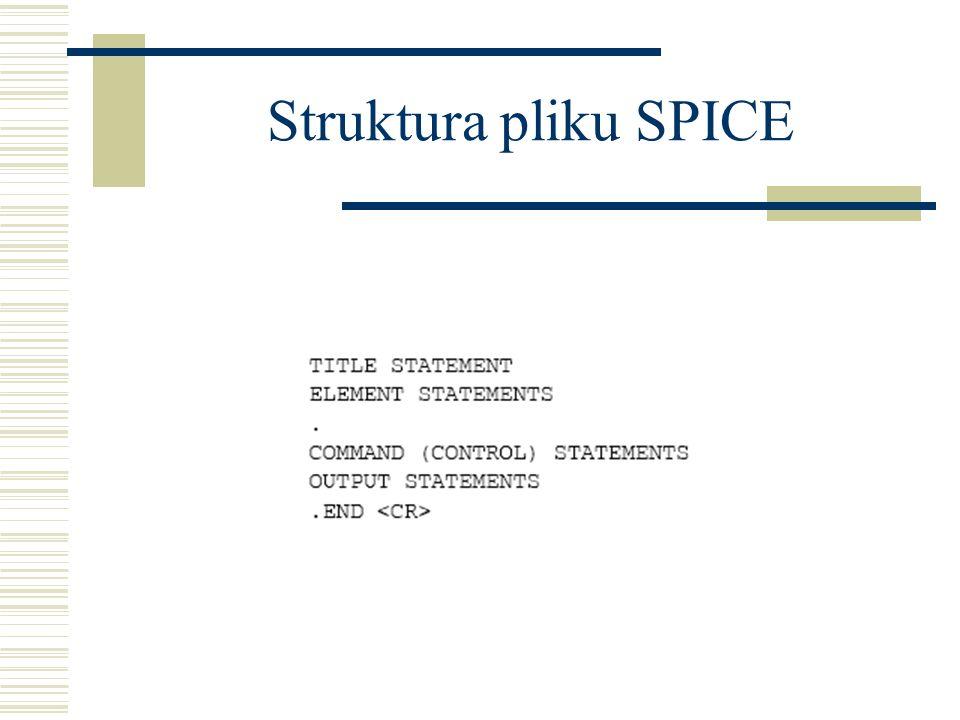 Struktura pliku SPICE