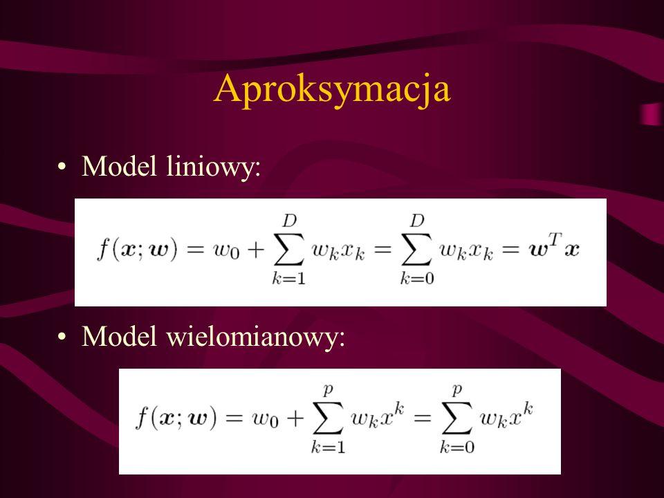 Aproksymacja Model liniowy: Model wielomianowy: