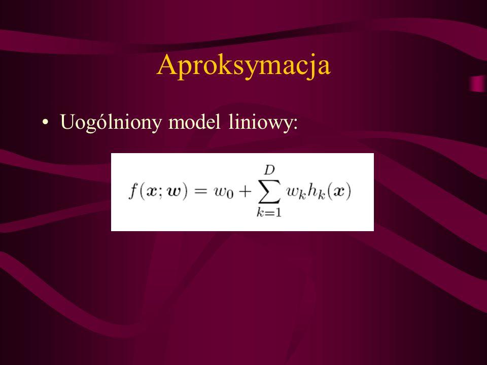 Aproksymacja Uogólniony model liniowy: