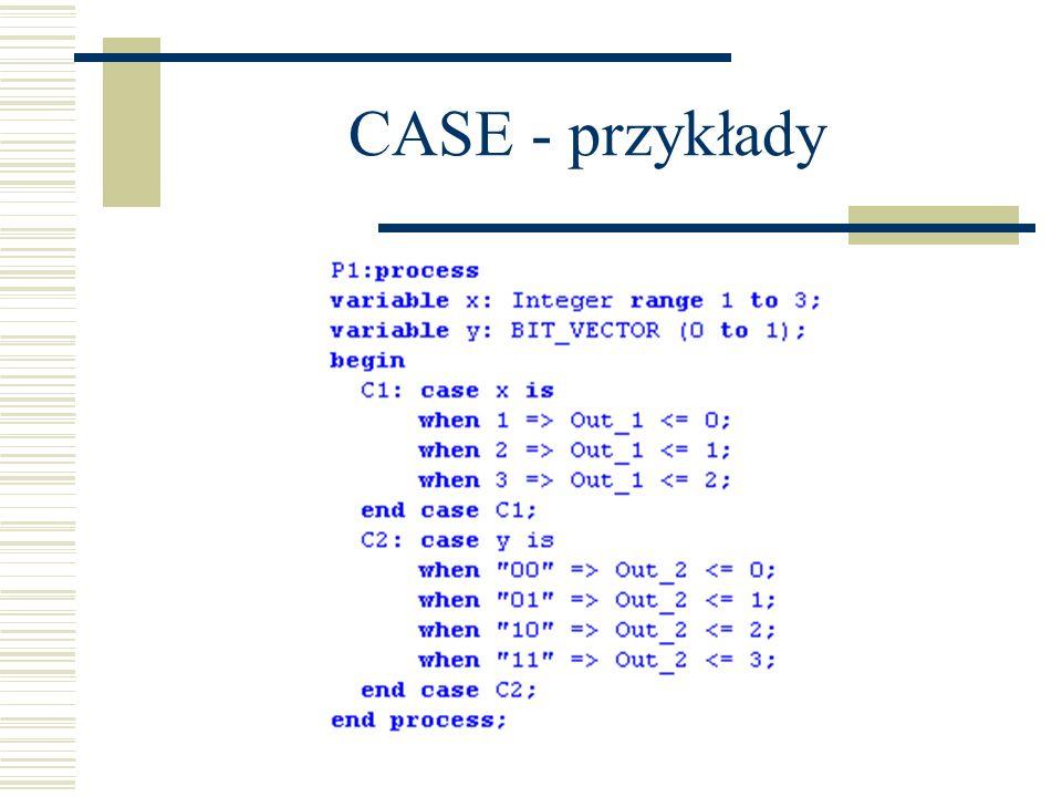 CASE - przykłady
