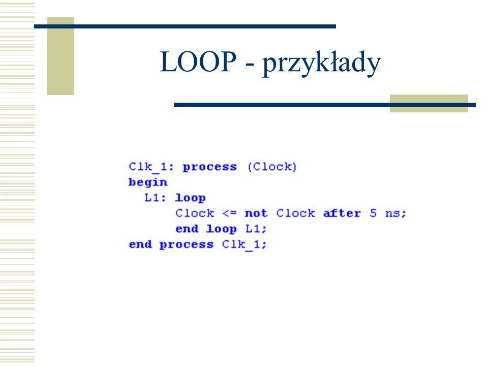 LOOP - przykłady