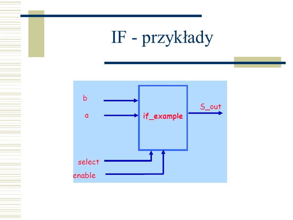 IF - przykłady