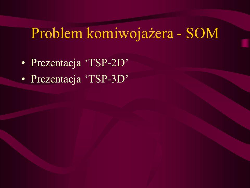 Problem komiwojażera - SOM Prezentacja TSP-2D Prezentacja TSP-3D