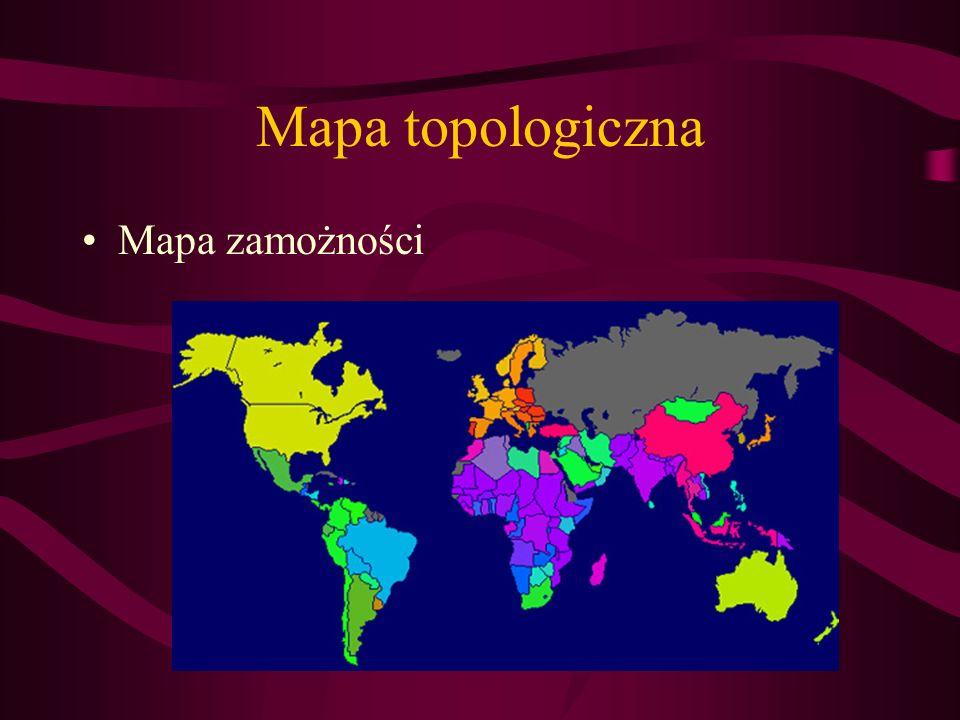 Mapa topologiczna Mapa zamożności