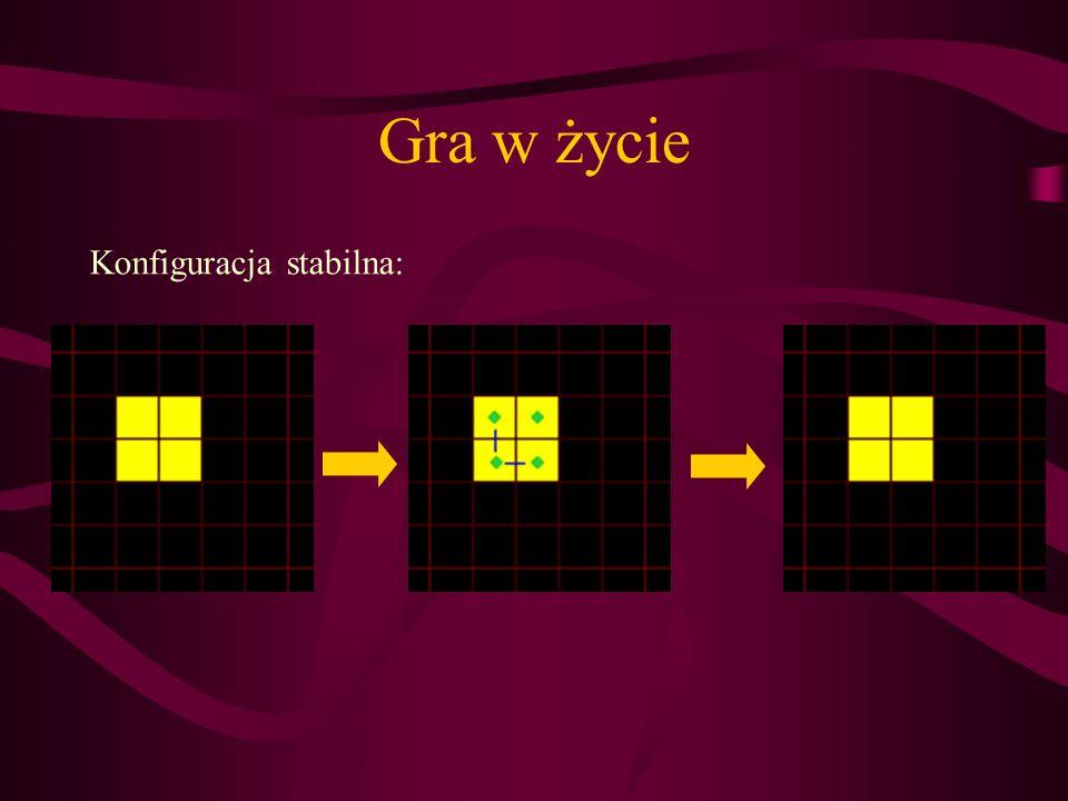 Gra w życie Konfiguracja stabilna: