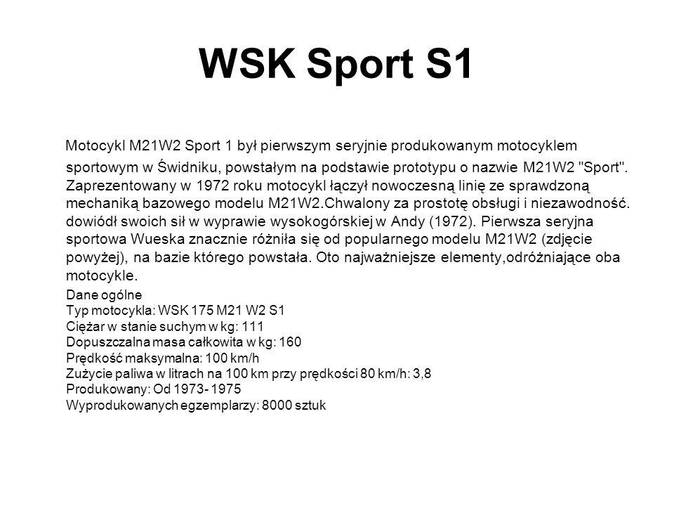 WSK Sport S1 Motocykl M21W2 Sport 1 był pierwszym seryjnie produkowanym motocyklem sportowym w Świdniku, powstałym na podstawie prototypu o nazwie M21