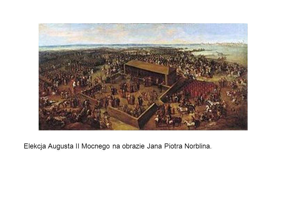 Elekcja Augusta II Mocnego na obrazie Jana Piotra Norblina.
