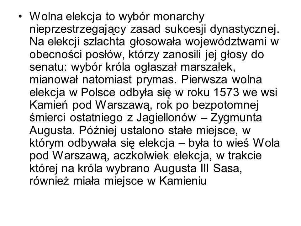Potęga Rzeczypospolitej u zenitu. Złota wolność. Elekcja ., obraz Jana Matejki