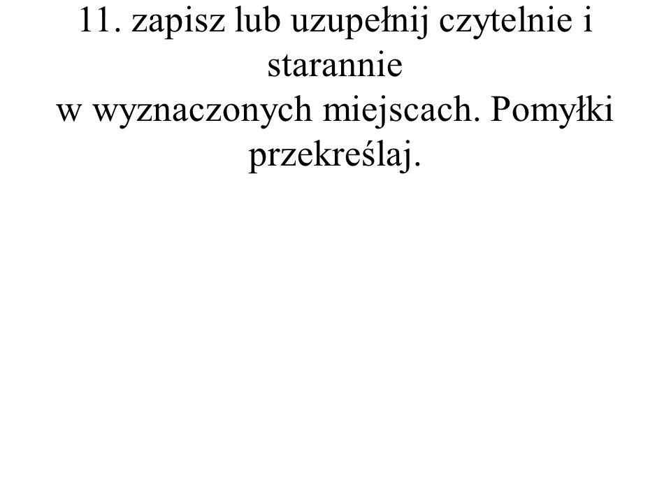 4.Rozwiązania zadań od 7. do 9. oraz 11.