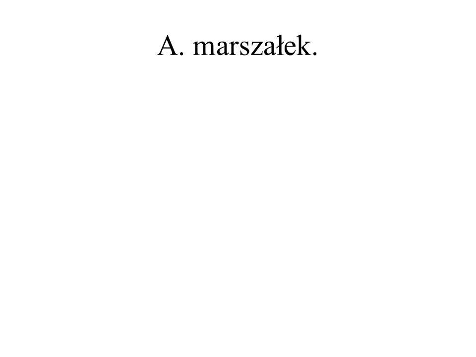 A. marszałek.