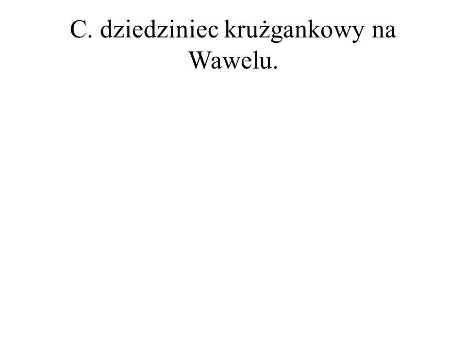 C. dziedziniec krużgankowy na Wawelu.