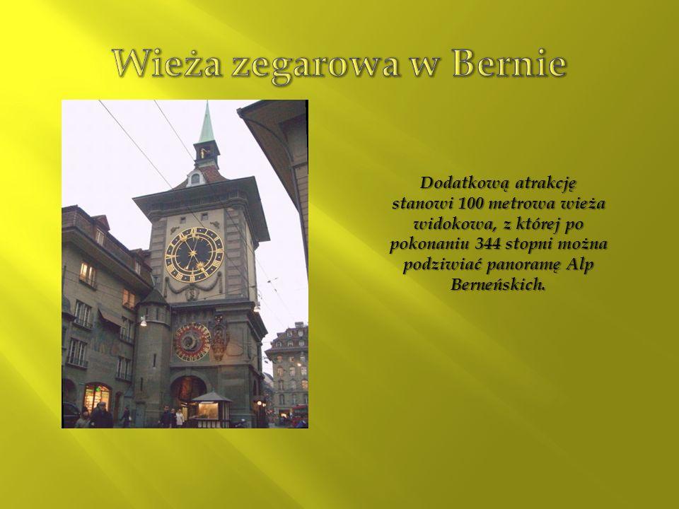 Dodatkową atrakcję stanowi 100 metrowa wieża widokowa, z której po pokonaniu 344 stopni można podziwiać panoramę Alp Berneńskich.
