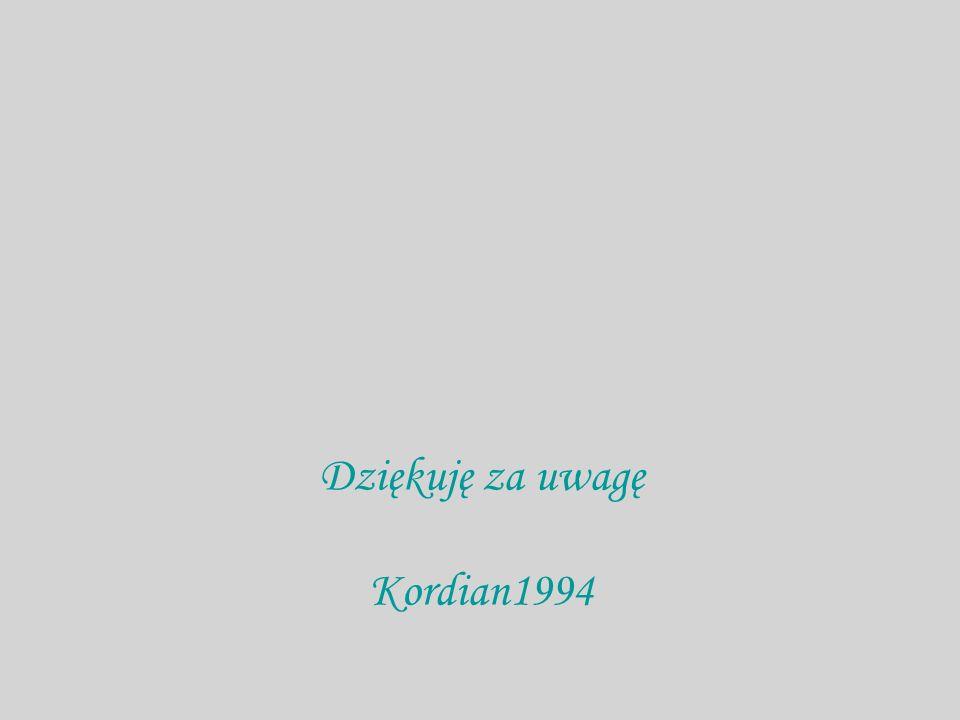 Dziękuję za uwagę Kordian1994