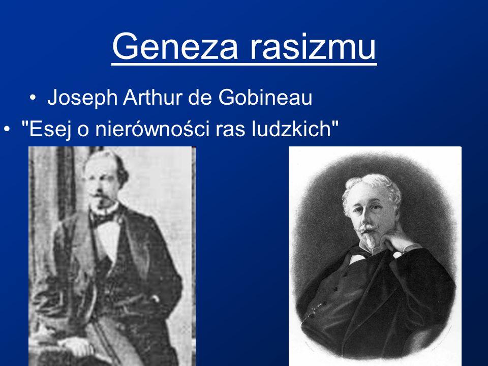Geneza rasizmu Joseph Arthur de Gobineau