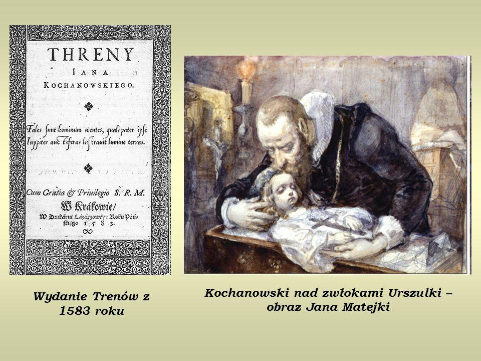 Wydanie Trenów z 1583 roku Kochanowski nad zwłokami Urszulki – obraz Jana Matejki