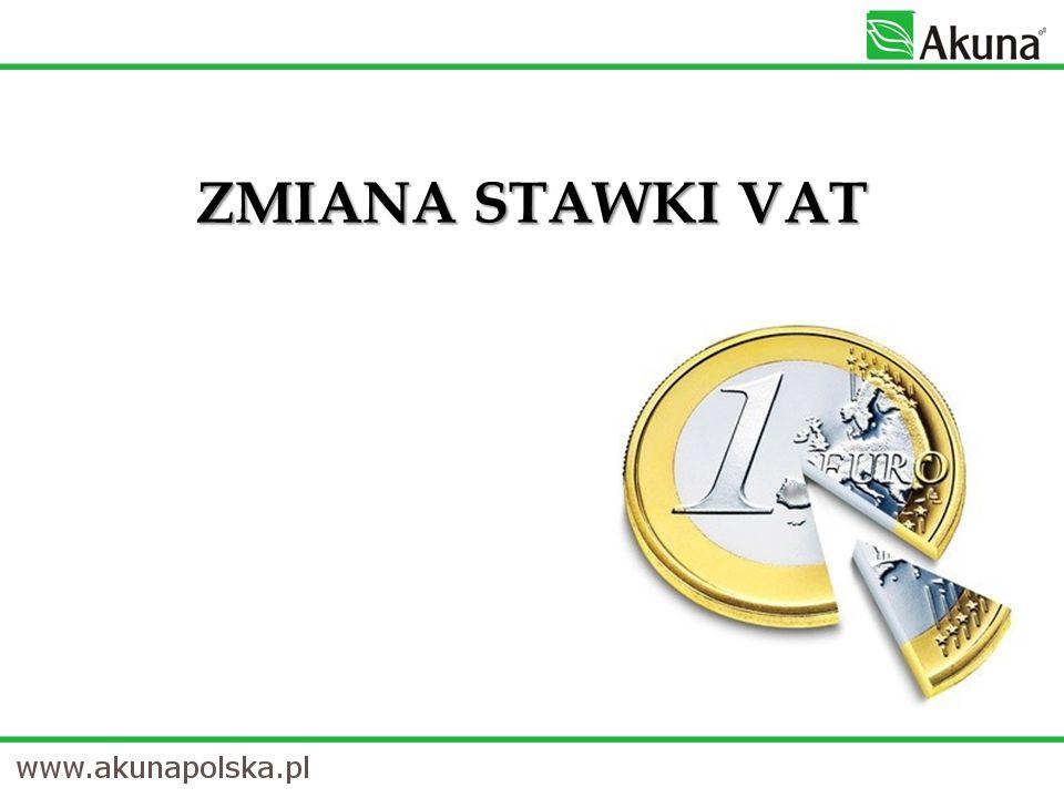 ZMIANA STAWKI VAT