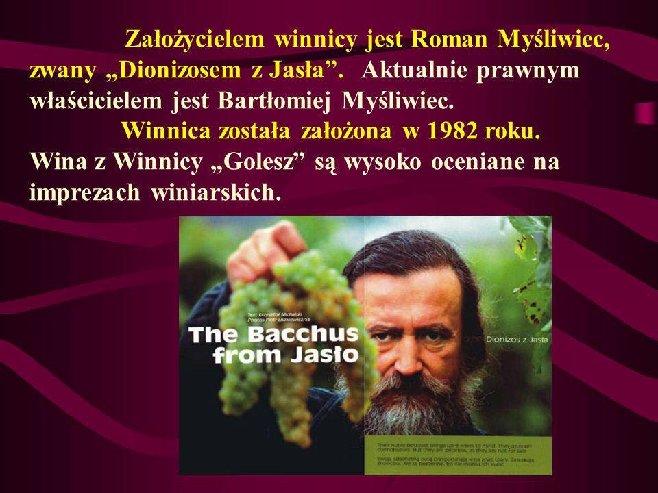 Założycielem winnicy jest Roman Myśliwiec, zwany Dionizosem z Jasła. Aktualnie prawnym właścicielem jest Bartłomiej Myśliwiec. Winnica została założon