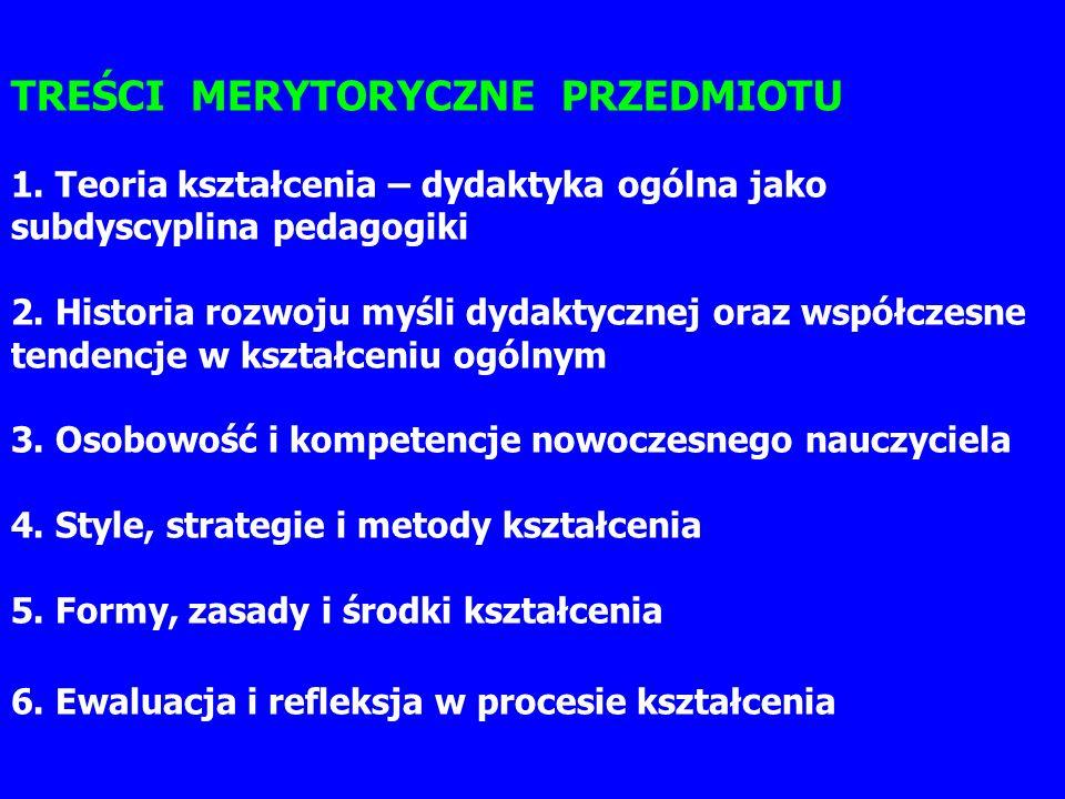 TREŚCI MERYTORYCZNE PRZEDMIOTU 1.